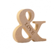 Engraved Georgian Bold Ampersand, 'LOVE' (18mm)