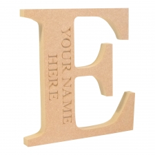 Engraved Georgian Bold Font Freestanding Letter (18mm)
