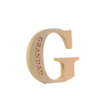 Engraved Georgian Bold G, Grandad (18mm)