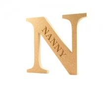 Engraved Georgian Bold Letter N, Nanny (18mm)