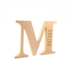 Engraved Georgian Bold Letter M, Mum (18mm)