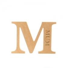 Mum, Engraved Letter (18mm)