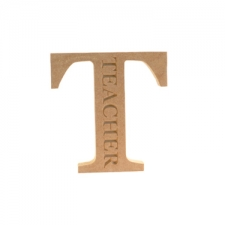 Teacher, Engraved Letter (18mm)