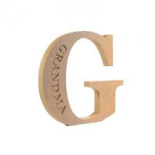 Engraved Georgian Bold Letter G, Grandma (18mm)