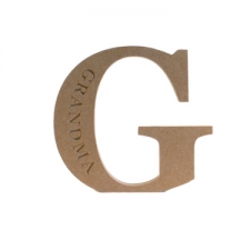Engraved Georgian Bold Letter G, Grandma (18mm)