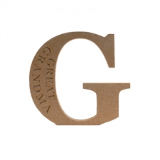 Engraved Georgian Bold letter G, Great Grandma (18mm)
