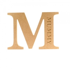 Engraved Georgian Bold Letter M, Mummy (18mm)