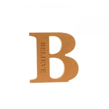 Engraved Georgian Bold Letter B, Believe (18mm)
