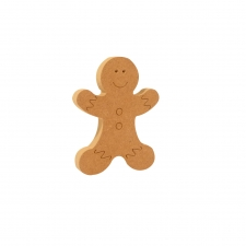 Engraved Gingerbread Man (18mm)