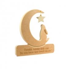 Hare in a Moon 'Twinkle Twinkle Little Star...'  (18mm)