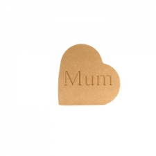 Heart on the Side, Mum/Mummy... (18mm)