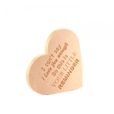 Engraved Heart with Verse 'I cant say I love you enough...' (18mm)