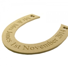 Engraved Horse Shoe (6mm)
