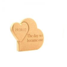 'The day we became one' Interlocking Hearts (18mm)