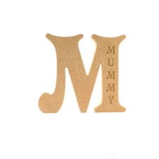 Victorian Letter M, Engraved Mummy (18mm)