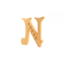 Engraved Letter N, Nanna (18mm)