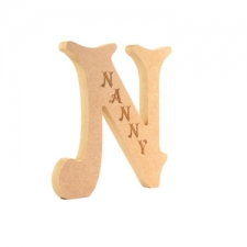 Engraved Letter N, Nanny (18mm)