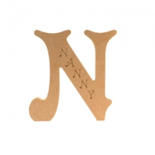 Engraved Letter N, Nanny (18mm)