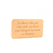 'So there's this boy/girl...' Engraved Plaque (18mm)