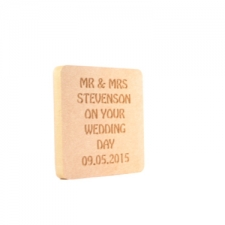 "Engraved ""On Your Wedding Day"" Plaque (18mm)"