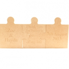 Engraved, Triple Jigsaw Pieces (18mm)