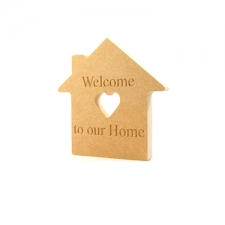 Engraved 'Welcome to our Home' House (18mm)
