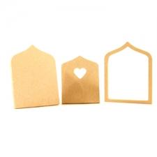 Fairy door with heart, 3 pieces (6mm)