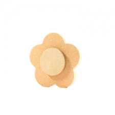 Flower with 6mm Centre (18mm + 6mm)
