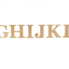 Freestanding Georgian Bold, Individual Letters (18mm)