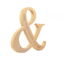 Freestanding Ampersand, engraved 'They lived happily ever after' (18mm)