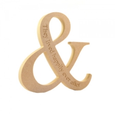 Ampersand, engraved 'They lived happily ever after' (18mm)