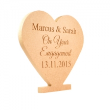 Celebratory Engraved  Heart (18mm)