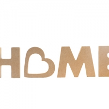 Freestanding Chunky font Home with heart on side (18mm)