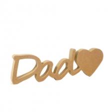 "Dad""heart"", Segoe Script Font (18mm)"