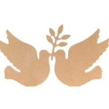 Freestanding Doves with Olive Branch