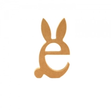 Freestanding 'e' with Bunny Ears and Tail (18mm)
