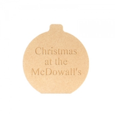 "Freestanding engraved bauble ""Christmas at the..."" (18mm)"