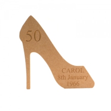 High Heeled Shoe, Engraved (18mm)