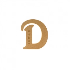 Freestanding Engraved Letter D (18mm)