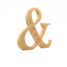 Freestanding Engraved (LOVE) Ampersand (18mm)