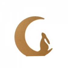Freestanding Hare in a Moon (18mm)
