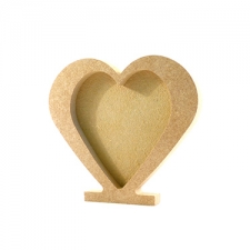 Freestanding Heart Photo Frame (18mm)
