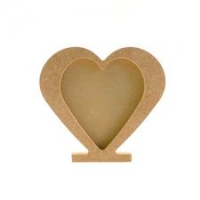 Heart Photo Frame, Freestanding (18mm)
