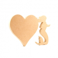 Heart with Mermaid, Freestanding (18mm)
