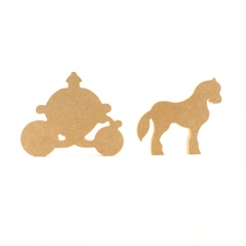 Freestanding Horse and Carriage (18mm)