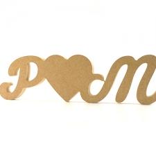 "Initial ""Heart"" Initial, Susa Font (18mm)"