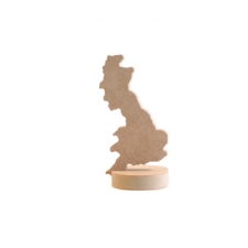 Freestanding Map of Britain Shape with base (18mm)
