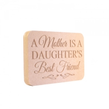 Freestanding Mother/Daughter Plaque (18mm)