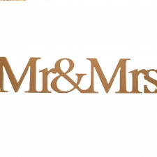 Freestanding Mr&Mrs (1 piece), Times New Roman Font (18mm)