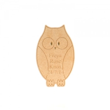 Freestanding personalised engraved owl (18mm)